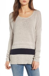 James Perse Women's Stripe Oversize Silk Blend Sweater