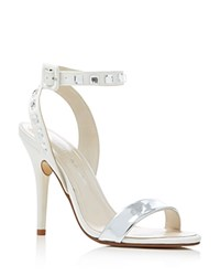 Caparros Cassidy Ankle Strap High Heel Sandals Ivory