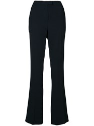 Les Copains High Waisted Flared Trousers Black