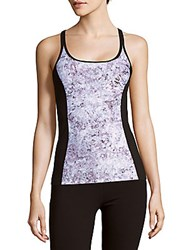 Calvin Klein Printed Scoopneck Tank Top Purple