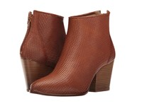 Summit By White Mountain Brickley Cognac Embossed Leather Women's Shoes Brown