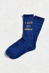 Urban Outfitters 1 800 Go Away Sport Sock Blue