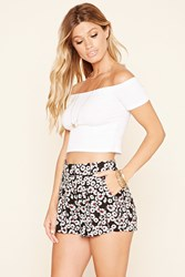 Forever 21 Tie Waist Floral Print Shorts