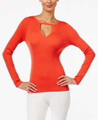 Inc International Concepts Keyhole Sweater Only At Macy's Electric Red
