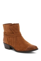 Qupid Sochi Perforated Bootie Brown