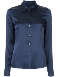 Dion Lee Satin Shirt Blue