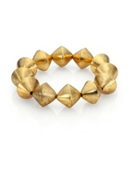 Nest Beaded Stretch Bracelet Gold