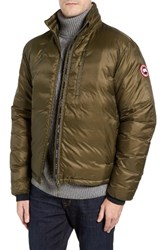 Canada Goose Men's 'Lodge' Slim Fit Packable Windproof 750 Down Fill Jacket Military Green Slate