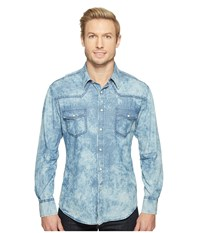 Rock And Roll Cowboy Long Sleeve Snap B2s1268 Blue Men's Clothing
