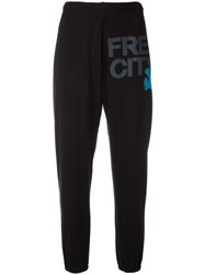 Freecity Logo Print Sweatpants Black