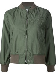 Engineered Garments Cropped Bomber Jacket Green