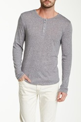 Joe's Jeans Sira Heathered Knit Long Sleeve Henley Gray