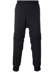 Neil Barrett Ribbed Knee Track Pants Blue