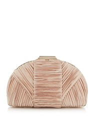 Issa Cara Dome Pleated Clutch Gold