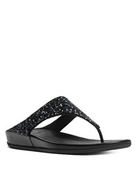 Fitflop Bandaroxy Tm Glittering Toe Thong Sandals Black