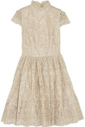Alice Olivia Natalina Lace Mini Dress Cream