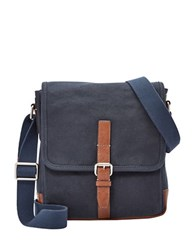 Fossil Davis Canvas Crossbody Bag Navy