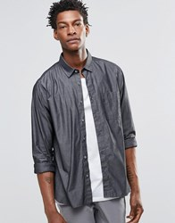 Ymc Baseball Collar Short Sleeve Shirt Grey