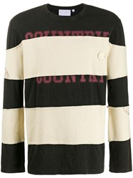 Telfar Striped T Shirt Black
