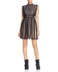 Free People Forever Lace Babydoll Dress Black