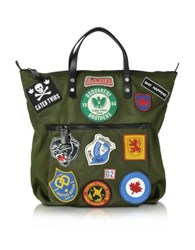 Dsquared2 Hiro Military Green Patchwork Men's Tote Bag