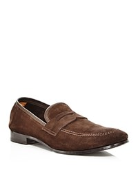 Bloomingdale's The Store At Suede Apron Toe Penny Loafers 100 Exclusive Brown