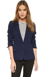 Cupcakes And Cashmere Brixton Blazer With Striped Lining Ink
