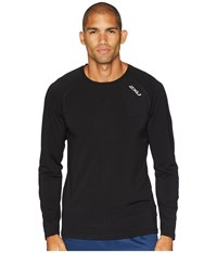 2Xu Heat Long Sleeve Run Tee Black Black T Shirt