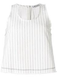 Alexander Wang T By Flared Tank Top Women Cotton 2 White