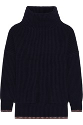 Rag And Bone Sarah Ribbed Cashmere And Wool Blend Turtleneck Sweater