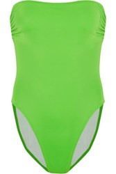 Norma Kamali Bishop Bandeau Swimsuit Bright Green
