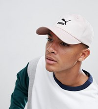 Puma Logo Cap With Taping In Pink Exclusive To Asos