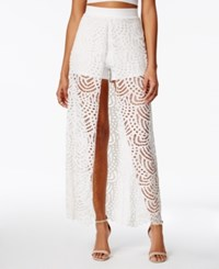 Material Girl Juniors' Lace Overlay Skort Only At Macy's Cloud Dancer