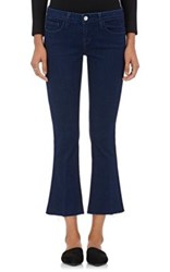 L'agence Women's Charlie Crop Flared Jeans Blue