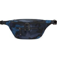 Valentino Camouflage Print Nylon Belt Bag Navy