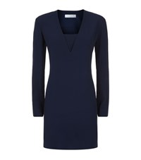 Sandro Leila V Neck Dress Female Blue