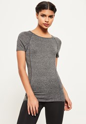 Missguided Active Grey Fitted T Shirt