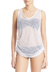 Kensie Lace Side Tie Coverup White