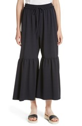 See By Chloe Women's Moroccan Flare Pants Navy