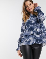Y.A.S Blouse With Ruffle Hem Multi