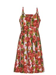 Emilia Wickstead Juliet Floral And Striped Print Dress Pink Print