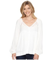 Stetson 0881 Lite Weight Fancy Rayon Button Front Blouse White Women's Blouse