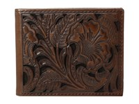 Ariat Bifold Floral Embossed Wallet Brown Wallet Handbags