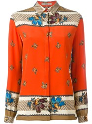 Etro Floral Print Shirt Red