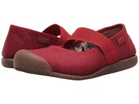 Keen Sienna Mj Canvas Red Dahlia 1 Women's Flat Shoes