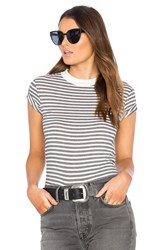 Rolla's Old Mate Stripe Tee Black And White