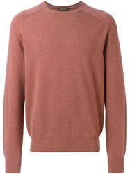 Loro Piana Crew Neck Sweater Pink And Purple