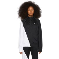 Nike Black And White Asymmetric Colorblocked Jacket