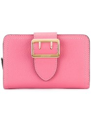 Burberry Buckled Wallet Pink Purple