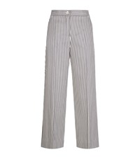Max Mara Weekend Wide Leg Stripe Trousers Female Blue